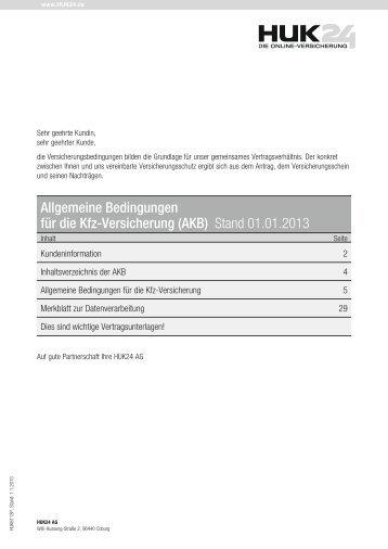 Allgemeine Bedingungen Für Die Kfz Versicherung Akb Occ