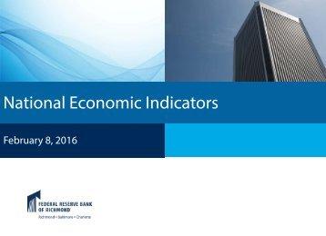 National Economic Indicators