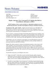 Hughes Announces New Converged WAN ... - Hughes Europe