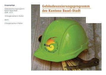 Gebäudesanierungsprogramm des Kantons Basel ... - Energiestadt