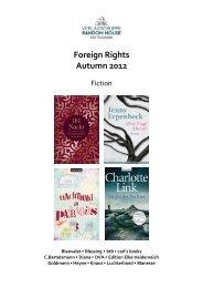 Foreign Rights Autumn 2012 - Verlagsgruppe Random House GmbH