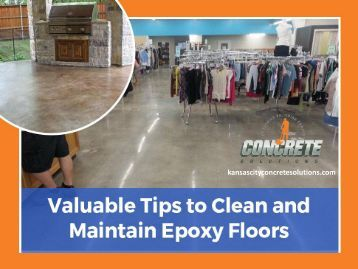 Expert Tips to Clean and Maintain Epoxy Floors