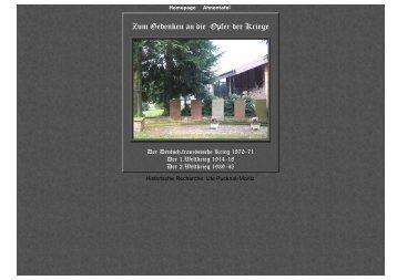 Die Gefallenen der Weltkriege - Lispenhausen