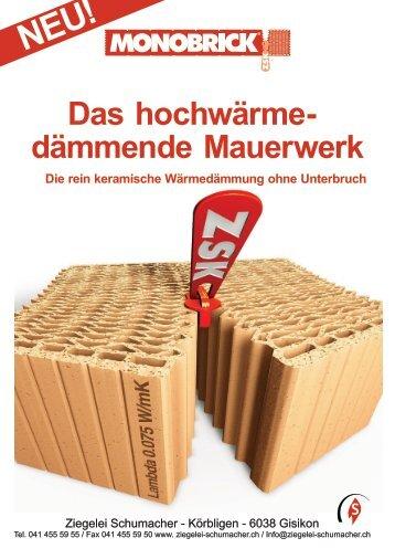 Das hochwärme dämmende Mauerwerk Die ... - Ziegelei Schumacher