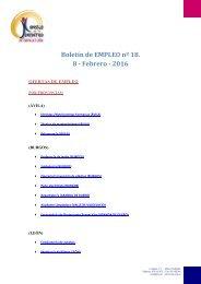 Boletín de EMPLEO nº 18 8 - Febrero - 2016