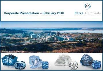 Corporate Presentation – February 2016