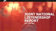 JOINT NATIONAL LISTENERSHIP REPORT