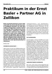 Praktikum in der Ernst Basler + Partner AG in Zollikon - VIS