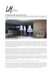 Investigating The Fashion Designer Hotel Concept - LUXURY ...