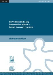Prevention and Early Intervention update - NSW Department of ...