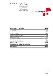 Amtsblatt Nr. 49 vom 9. Dezember 2011 (1040 - Kanton Schwyz