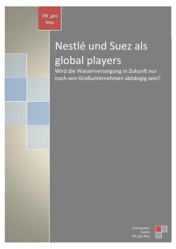 Nestlé und Suez als global players