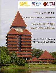 The 2nd IMAT - Universiti Teknologi Malaysia