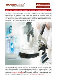 Hoverlabs – Educational Scientific Equipments Manufacturers India