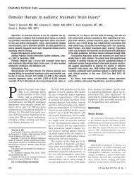 Osmolar therapy in pediatric traumatic brain injury*