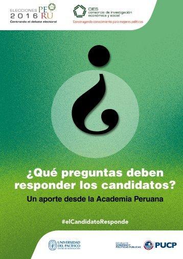 ¿Qué preguntas deben responder los candidatos?
