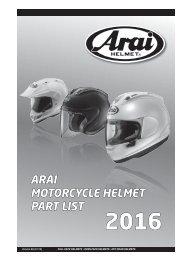 Arai_Partsbook 2016