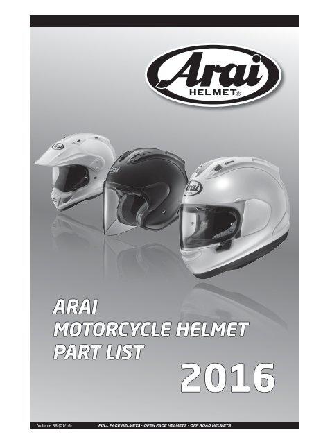 Diamond White Swivel Plates for RX-7 GP//Viper//Astro-Light//Quantum//Quantum-ST//Quantum-ST PRO//Ch Helmets ARAI Super AdSis J LRS