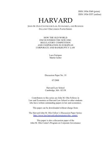 harvard law school syllabus pdf