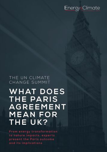 W HAT DOES T H E PA R I S AGREEMENT M E A N F O R THE UK?