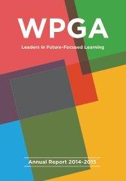 WPGA Annual Report 2014-2015