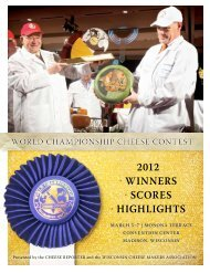 2012 • winners • scores • highlights - Cheese Reporter