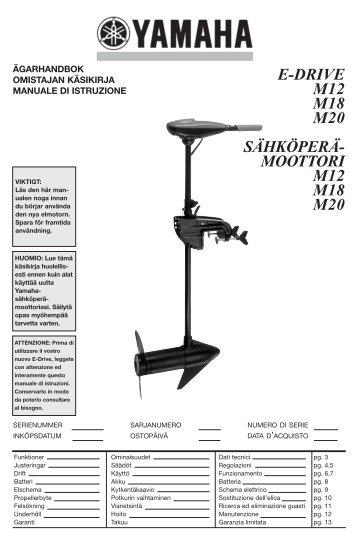 Yamaha M18 - 2015 - Mode d'emploi Svenska