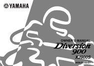 Yamaha XJ900S - 2002 - Mode d'emploi English