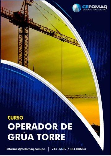 CURSO OPERADOR DE GRUA TORRE