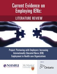 Current Evidence on Employing IENs
