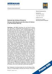 Voransicht vollständiger Pressetext (pdf) - Hörmann KG