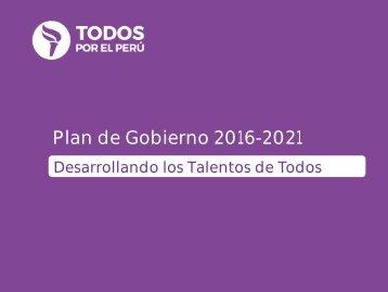Plan de Gobierno 2016-2021