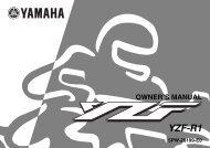 Yamaha YZF-R1 - 2002 - Mode d'emploi English