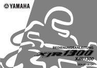 Yamaha XJR1300 - 2002 - Mode d'emploi Deutsch