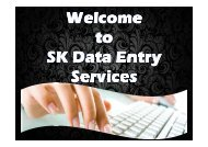 Leading Data Entry Outsourcing Companies