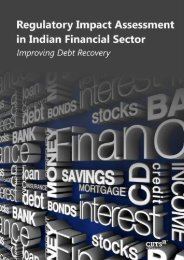 Regulatory Impact Assessment in Indian Financial Sector Improving Debt Recovery
