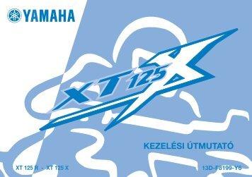 Yamaha XT125 - 2006 - Mode d'emploi Magyar