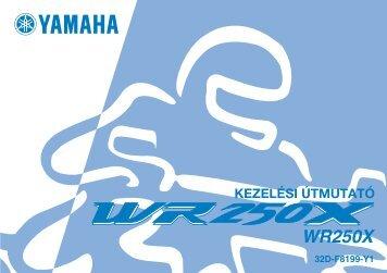 Yamaha WR250R - 2008 - Mode d'emploi Magyar