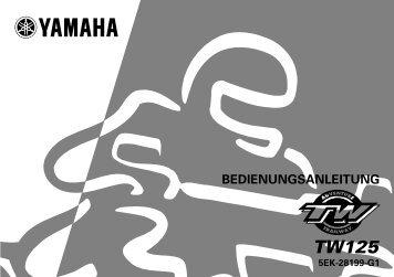 Yamaha TW125 - 2000 - Mode d'emploi Deutsch