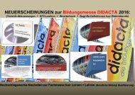 Didacta 2016: Newsletter Berufliche Bildung (Kfz Mechatronik englisch franzoesisch/ Woerterbuch fuer Elektroberufe)
