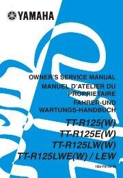 Yamaha TTR125 - 2007 - Mode d'emploi English
