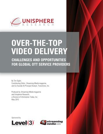 OVER-THE-TOP VIDEO DELIVERY