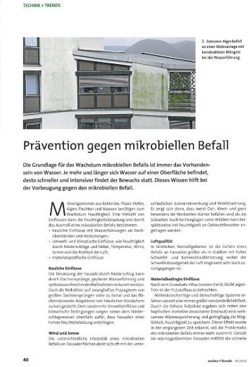 Prävention gegen mikrobiellen Befall
