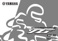 Yamaha YZF-R6 - 2000 - Mode d'emploi Deutsch
