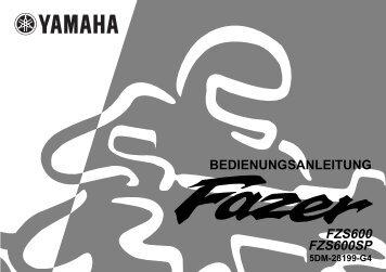 Yamaha FZS600 - 2001 - Mode d'emploi Deutsch