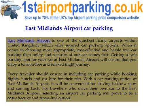 East Midlands Airport Car Parking