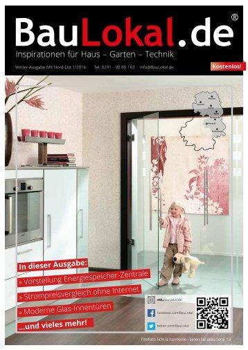 BauLokal.de das Magazin Ausgabe 1/2016 Winter MK Nord-Ost