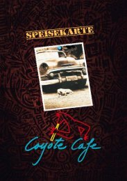 Coyote Cafe Speisekarte