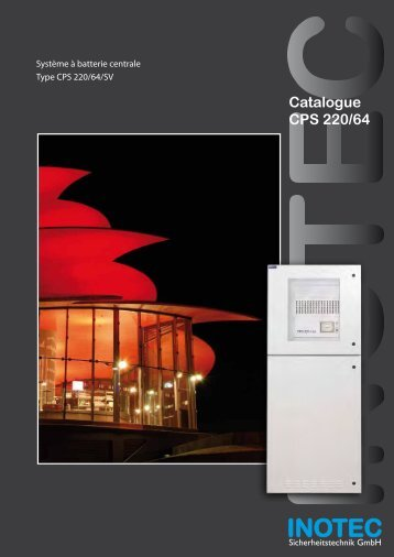 Catalogue CPS 220/64 - Inotec Sicherheitstechnik