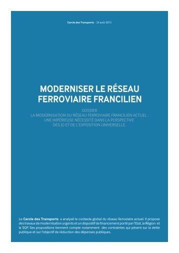 MODERNISER LE RÉSEAU FERROVIAIRE FRANCILIEN